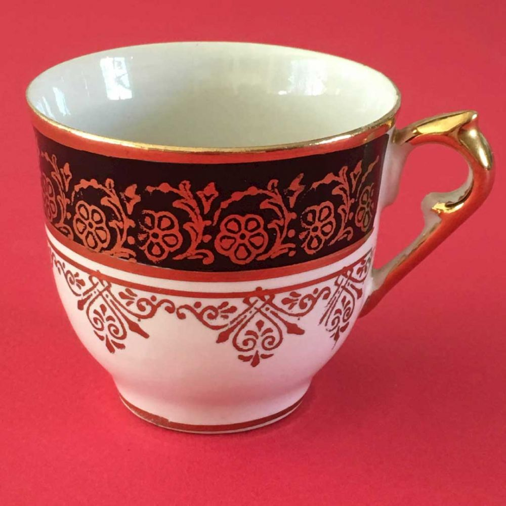 Cabinet Gilded Turkish Coffee Can - Porcelain